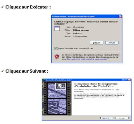 Installer photofiltre pas pas pour l 39 installation de - Comment installer un raccourci sur le bureau ...